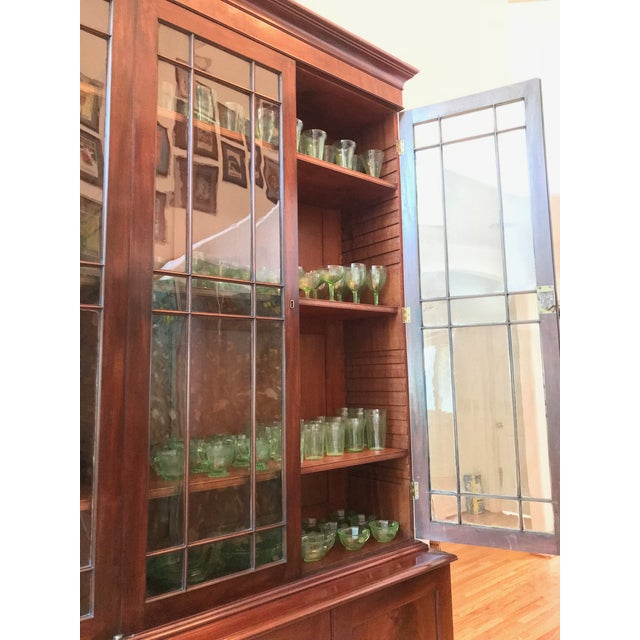 George III Style Mahogany Bookcase Cabinet For Sale In Los Angeles - Image 6 of 13