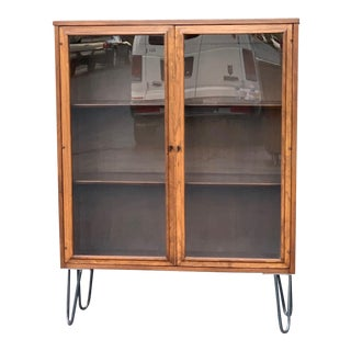 1960s Broyhill Sculptra Mid Century Modern Display Cabinet For Sale