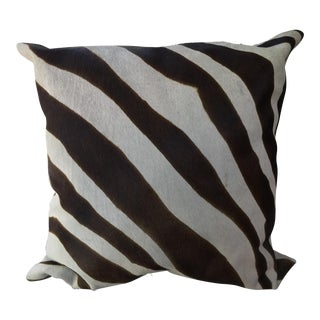Oly Studio Zebra Print Ponyskin Pillow For Sale