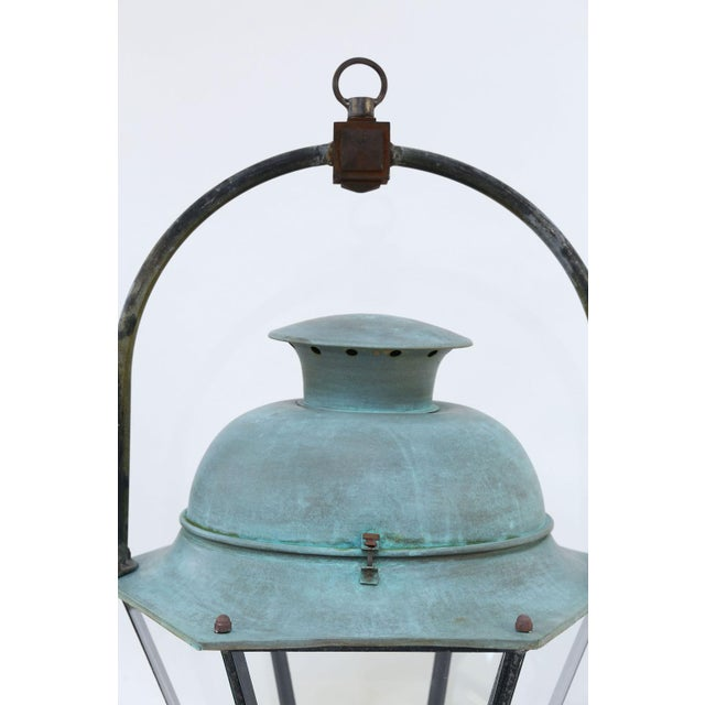 Large Copper French Lantern For Sale - Image 10 of 11
