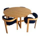 Image of Mid Century Italian Modern Dining Set Designed by Tobia & Afra Scarpa - 5 Pieces For Sale