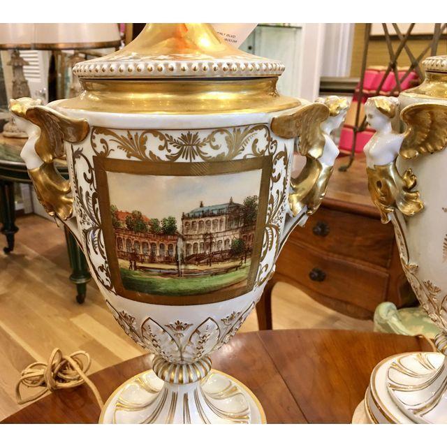 Antique Dresden German Porcelain Lamps - Carl Thieme Potschappel For Sale In Los Angeles - Image 6 of 7