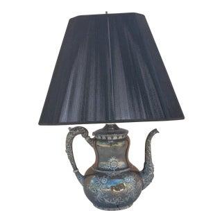 Silver Teapot Table Lamp
