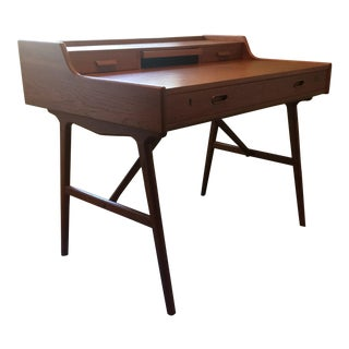 1960s Danish Modern Arne Wahl Iverson Teak Writing Desk For Sale