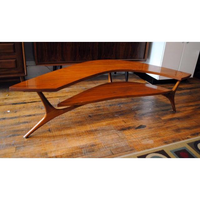Mid Century Modern Walnut Boomerang Coffee Table 1960 S