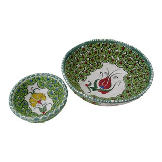 Ceramic Trinket Bowls, Set of 2 For Sale