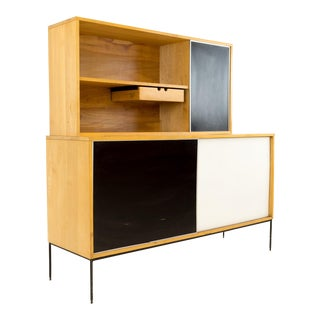 Vintage Mid-Century Paul McCobb for Planner Group Blonde Credenza & Hutch For Sale