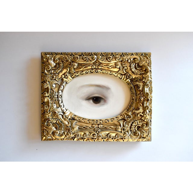 Contemporary Contemporary Lover's Eye Painting by S. Carson For Sale - Image 3 of 7