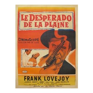 1958 Vintage Movie Poster, Desperado de la plaine