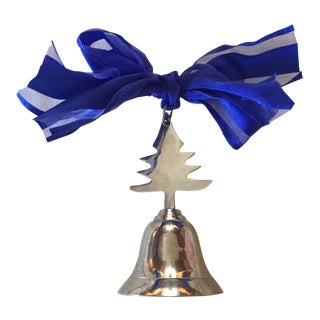 Silver Christmas Tree Bell Ornament For Sale