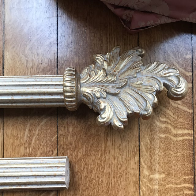 French French Gold Designer Curtain Rods, Finials, Brackets, Tiebacks & Rings - 38 Pieces For Sale - Image 3 of 10