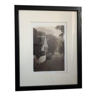 1990s Cottage and Landscape Print, Framed For Sale