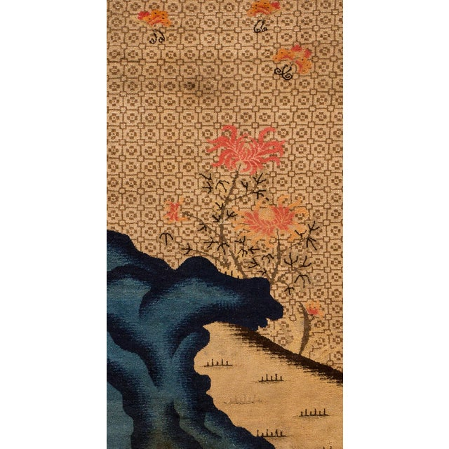 """Apadana - Antique Distressed Pictorial Chinese Peking Rug, 2'6"""" x 4'10"""" For Sale - Image 4 of 5"""