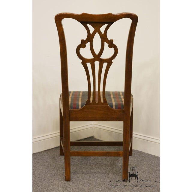 Late 20th Century Late 20th Century Drexel Heritage Chippendale Style Dining Chair For Sale - Image 5 of 12