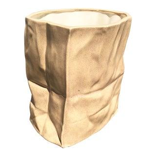 Ceramic Paper Bag Vase
