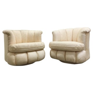 80s Glam Swivel Chairs - A Pair