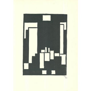1928 Thilo Matsch Composition Woodcut Print - Signed For Sale