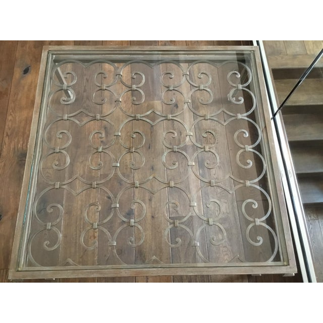 2000 - 2009 Art Nouveau Scrolling Iron Coffee Table For Sale - Image 5 of 7