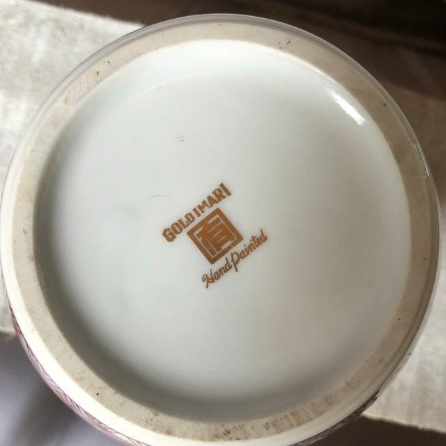 Ceramic Gold Imari Handpainted Ginger Jar For Sale - Image 7 of 9