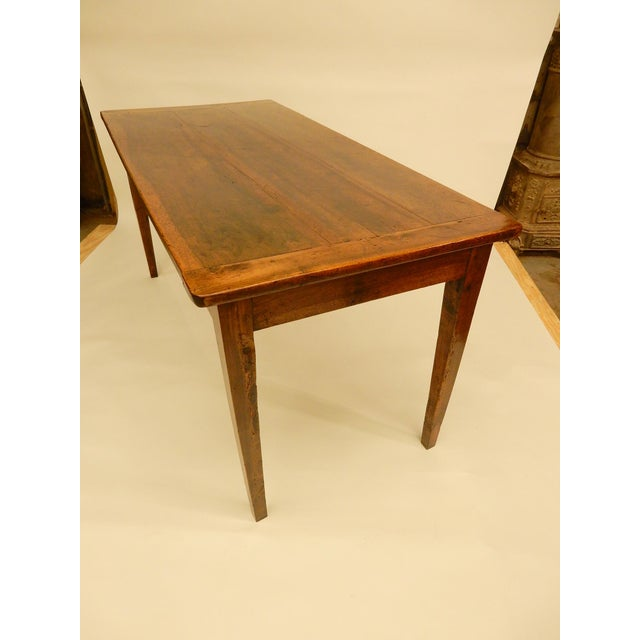 Early 19th Century French Provincial Walnut Farm Table For Sale - Image 5 of 6