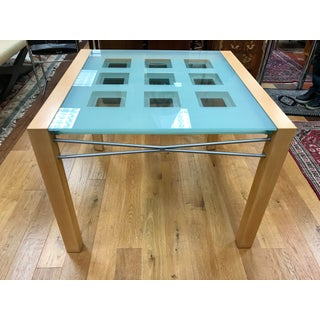 1990s Modern Ligne Roset Expandable Extensia Glass Dining Table Preview