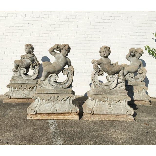 A Set of Four Allegorical Putti Emblematic of the Seasons For Sale - Image 12 of 12