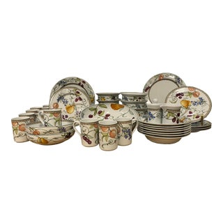 Early 21st Century Dansk Umbrian Fruits Dinnerware, 49 Pieces For Sale