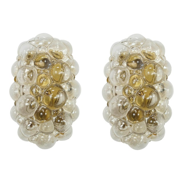 Oblong Bubble Glass Wall Lights by Helena Tynell - a Pair For Sale