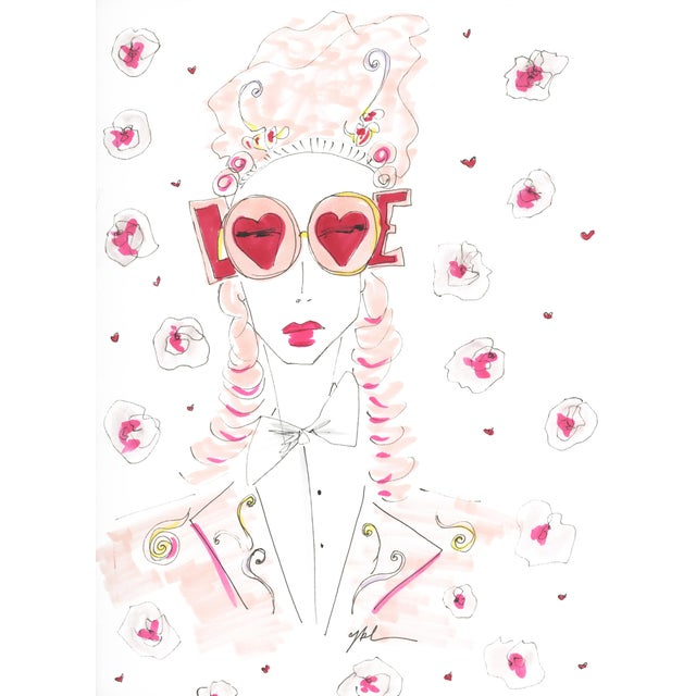 """2010s 2010s Original Illustration, """"Marie Love Antoinette"""" by Carly Kuhn For Sale - Image 5 of 5"""