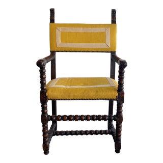 Spanish Bobbin Arm Chair For Sale