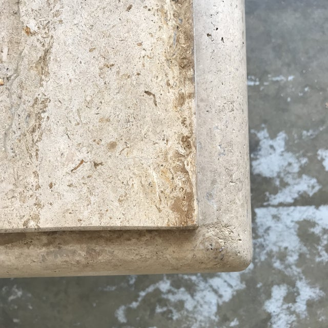 Solid Travertine Coffee Table For Sale In Los Angeles - Image 6 of 12