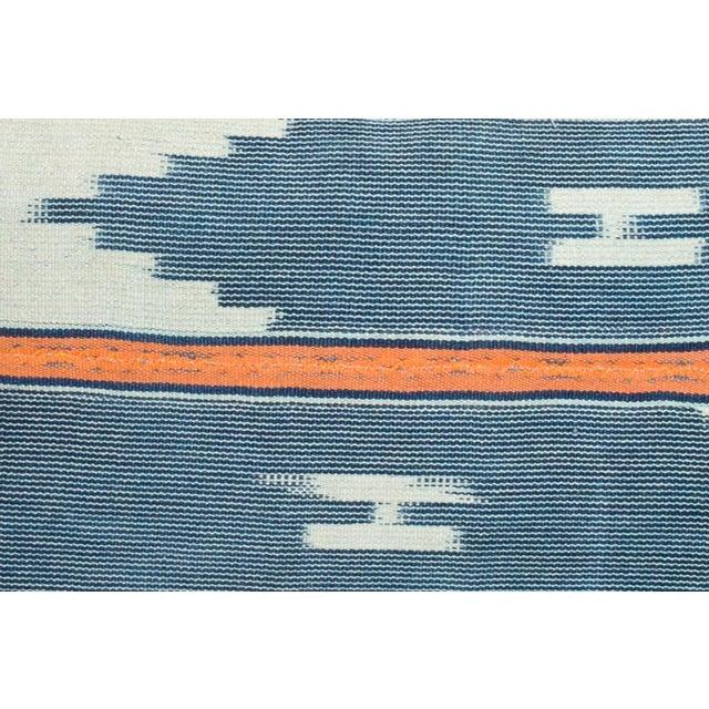 Pair Vintage African Ikat pillow