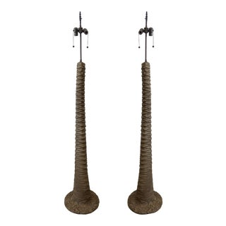 Palm Tree Floor Lamps - a Pair For Sale