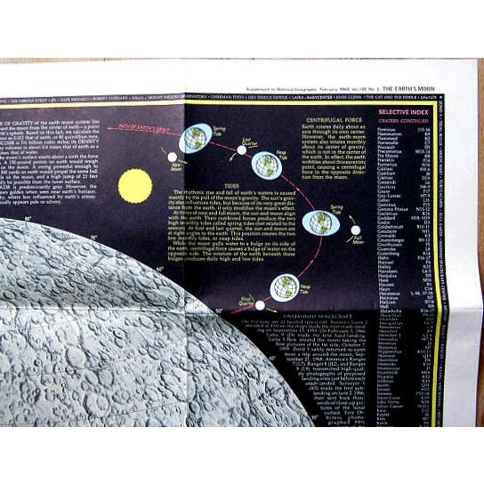 "1969 National Geographic ""The Earth's Moon"" Map - Image 7 of 8"