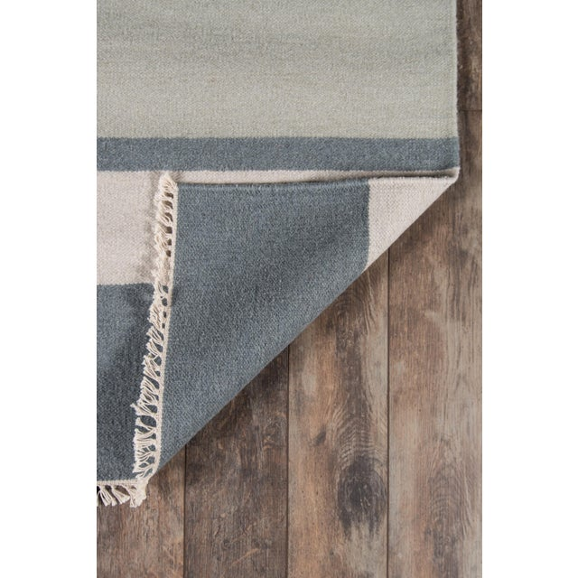 """Contemporary Erin Gates Thompson Brant Point Grey Hand Woven Wool Area Rug 5' X 7'6"""" For Sale - Image 3 of 5"""