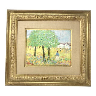 20th Century Impressionist Landscape Oil Painting, Signed by Artist H. Somers For Sale