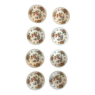 Vintage Wedgewood Autumn Harvest Crumpet Plates - Set of 8 For Sale