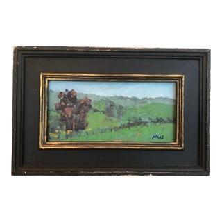 Pleasant's Valley Iris Farm Plein Air Oil Painting For Sale