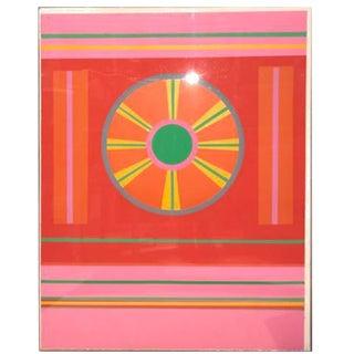 1968 John Grillo Silkscreen Under Plexiglass (1917 - 2014)