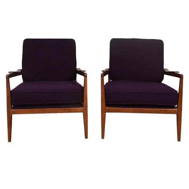 Edmond Spence Mid-Century Modern Walnut Club Chairs - a Pair For Sale