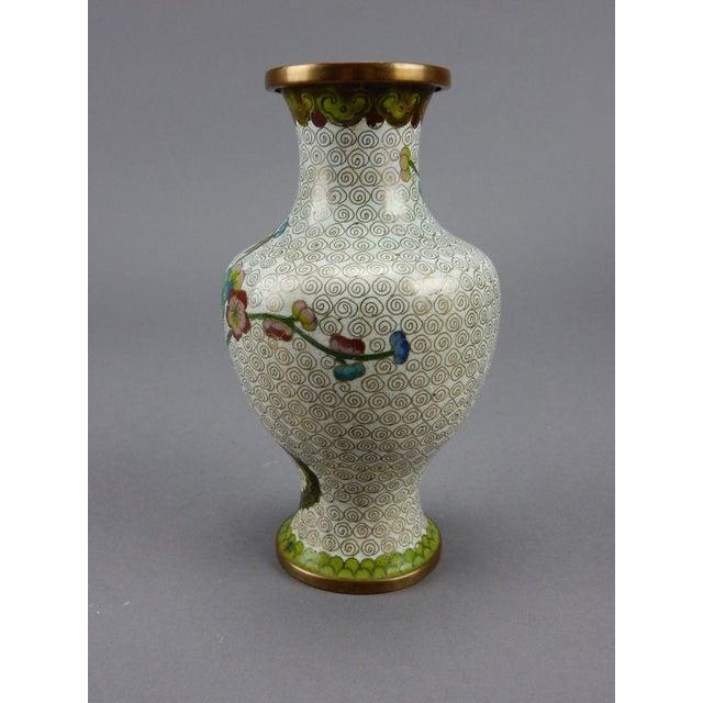 Cloisonné Antique Chinese Cloisonne Vase For Sale - Image 7 of 11