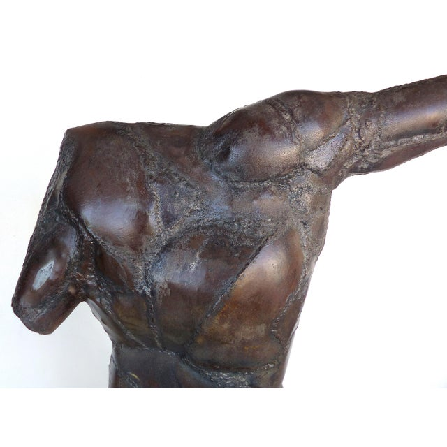 Monumental Sculpture of an Archer by American Artist Dewey Smith For Sale - Image 4 of 9