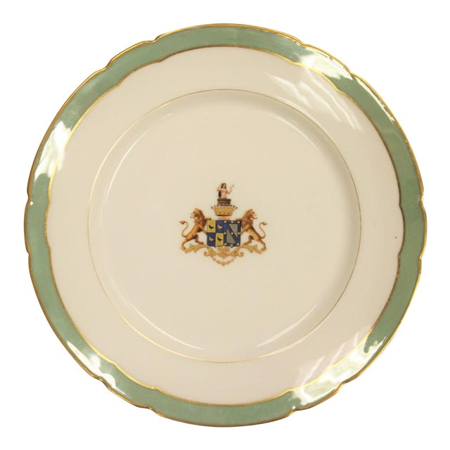 Armorial Gilt Salad Plate - Image 1 of 4