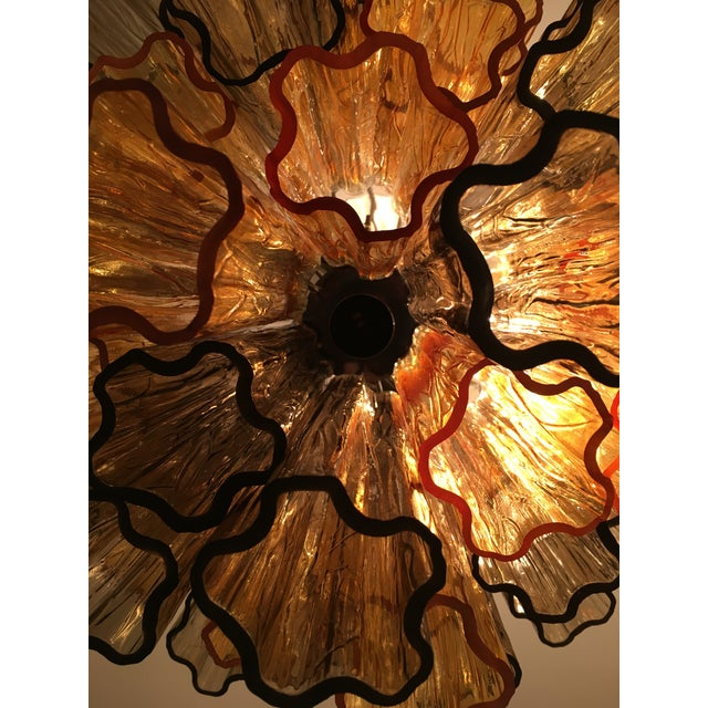 """Contemporary Murano Glass """"Tronchi"""" Chandelier For Sale - Image 11 of 12"""