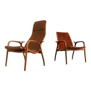 1960s Vintage Yngve Ekström for Swedese Lamino Chairs- A Pair For Sale