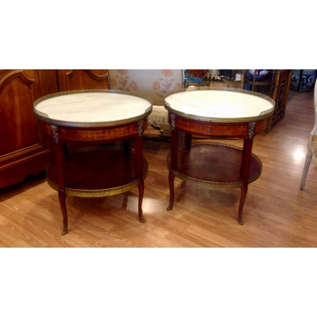 Pair of Fine French Bouillotte Tables For Sale - Image 13 of 13