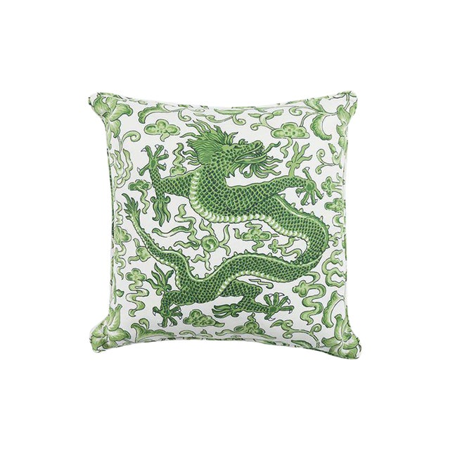 Scalamandre Chi'en Dragon Pillow, Jade For Sale