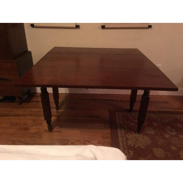 1900s Traditional Cherry Table With Leaves For Sale In New York - Image 6 of 6