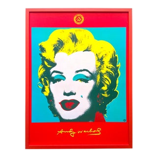 "Andy Warhol Foundation Rare Vintage 1996 Framed Lithograph Print Framed Collector's Pop Art Poster "" Marliyn ""1967 For Sale"