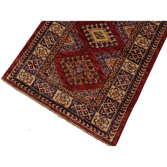 Islamic Persian Margaret Red/Beige Hand-Knotted Wool Rug - 2'0 X 2'10 For Sale - Image 3 of 8